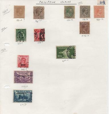 PHILIPPINE ISLANDS: Mixed Examples - Ex-Old Time Collection - Page (5289)