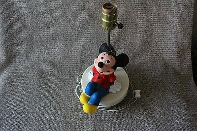 Mickey Mouse Lamp With Shade and Glowing Red Shirt