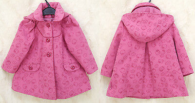 HELLO KITTY Girls Winter Coat with Hood Age 2 – 3