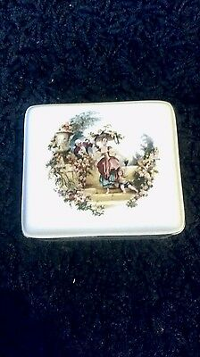 Pretty Porcelain Trinket Box c1950/60s By Lord Nelson Pottery