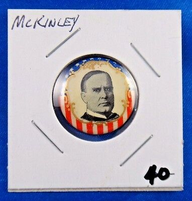 1900 William McKinley Presidential Campaign Political Pin Pinback Button