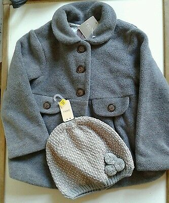 Girls NEXT coat and matching hat size age 5-6 years, new with tags, Christmas?