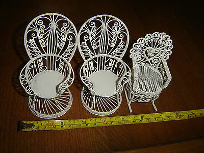 Doll's House Conservatory White  Wire Wear Furniture
