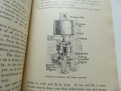 Vintage Hipp Electric Clock Construction Book. Case Movement Wiring Works 1947