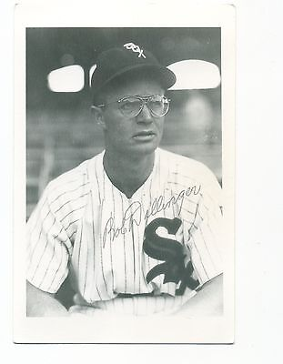 Autographed Brace Photo of White Sox Bob Dillinger