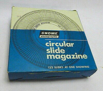 Gnome Photographic Circular Slide Magazine 122 Slides for Rotary Slide Projector