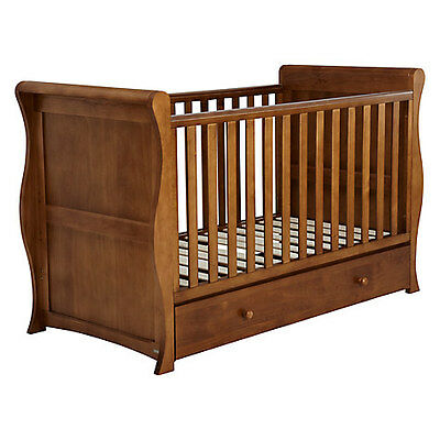 John Lewis Martha Sleigh Wooden Cotbed / Cot / Daybed with Mattress