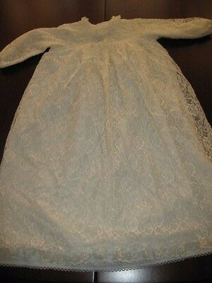 Baby's White Lace Dress