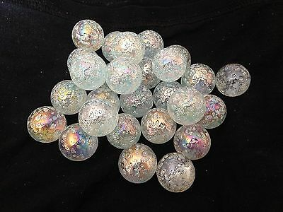 HOM Glass Marbles 5 x 22mm Snowflake Collectors or traditional game shooter