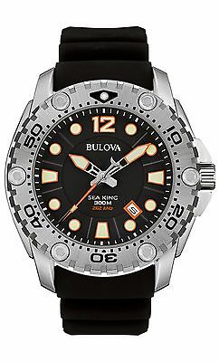 Bulova Men's 96B228 Precisionist Sea King UHF Quartz Black Rubber Strap Watch