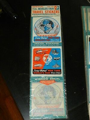 1964 New York World's Fair Official Travel Sticker Packet** UN-OPENED**Free Ship