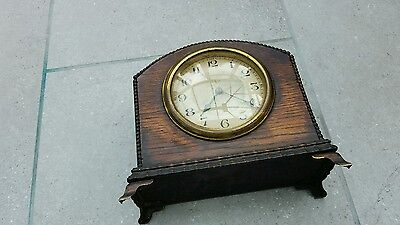 vintage Mahogany/ BRASS  French  mantle clock