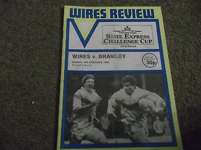 Warrington V Bramley Rugby League Challenge Cup 13Th February 1983