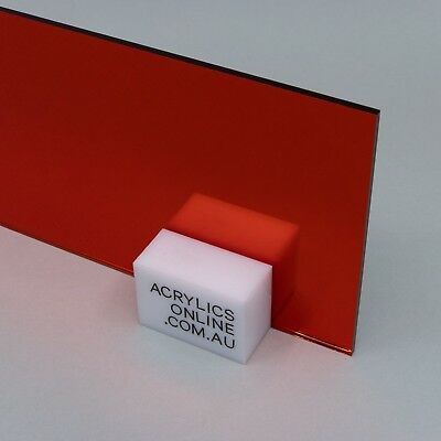Acrylic Red Mirror Perspex CAST A4 A3 A2 A1 A0 Sheet FREE POST Limited Stock