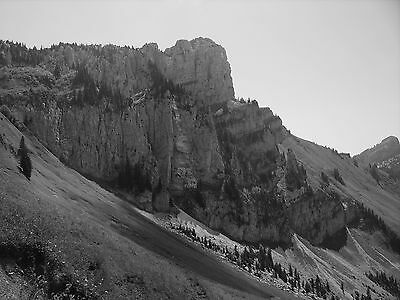 """Alps crags A4 12""""x8"""" black and white photo print.Colour/larger sizes available"""