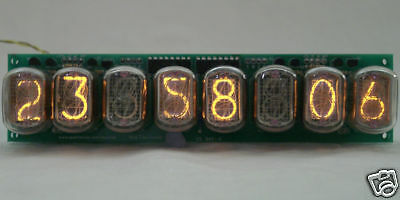 8 Digit In-12 Nixie Tube Clock Web Counter, 2 Alarms