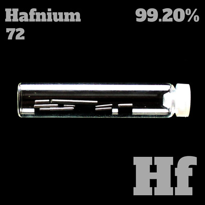 Hafnium metal 72 Hf - Pure Element Sample - periodic table - Metall Probe rein