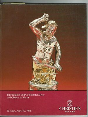 Christie's New York Auction Catalog FINE ENGLISH AND CONTINENTAL SILVER 1988
