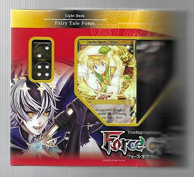 FORCE OF WILL Lapis Cluster FAIRY TALE FORCE Light Starter Deck PLUS  3 Boosters