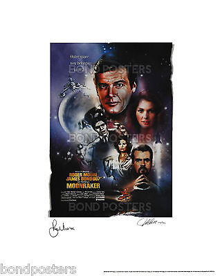 Moonraker - Official Ltd Ed James Bond Lithograph - SIGNED by Moore & Artist!