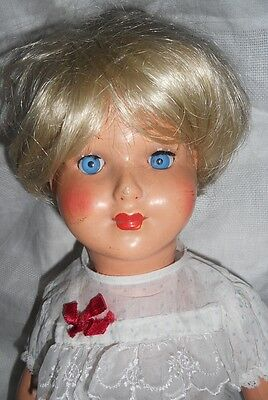 VINTAGE 1940s-1950s COMPOSITION DOLL