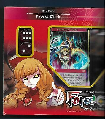 FORCE OF WILL Lapis Cluster RAGE OF R'LYEH Fire Starter Deck AND 3 Boosters