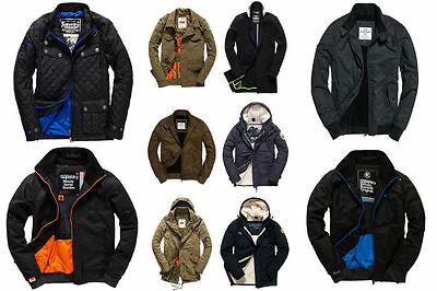 100% - New Mens Superdry Jackets Selection - Various Styles & Colours 888
