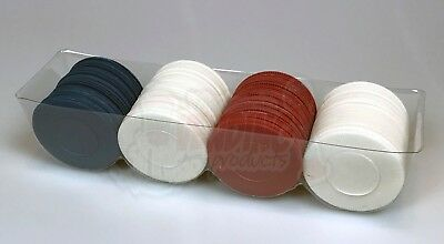 100 Plastic Stacking Poker Chips ~Red White & Blue~ Washable & Stackable Value!