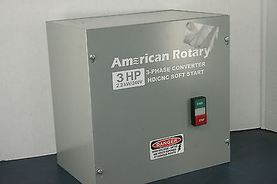 American Rotary 3HP 2.2kW/240V HD/CNC Soft Start 3-Phase Converter
