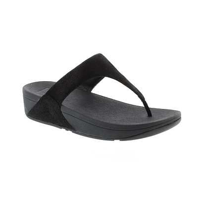 ac880ddd1fdb00 FITFLOP SHIMMY SUEDE Black Glimmer Flip Flop Sandal Women s sizes 5-11 NEW!!!  -  54.95