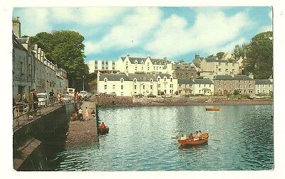Skye - a photographic postcard of Portree from the Harbour
