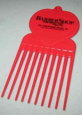 2016 Barbershop The Next Cut Promotional Red Hair Pick Comb April 15 MGM