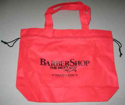 2016 Barbershop The Next Cut Promotional Red Tote Bag April 15 MGM Promo