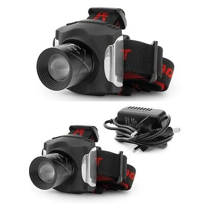 TORCIA FRONTALE CREE RECHARGEBLE HEAD LAMP PESCA CACCIA SOFT AIR 160 lumen