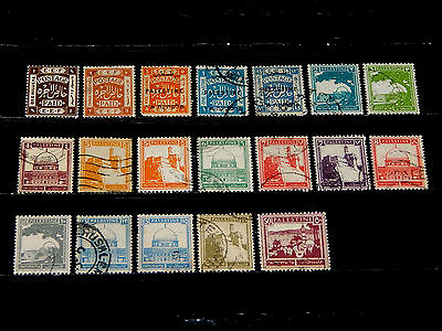 Palestine stamps for sale - 19 mint hinged and used early stamps - very nice !!