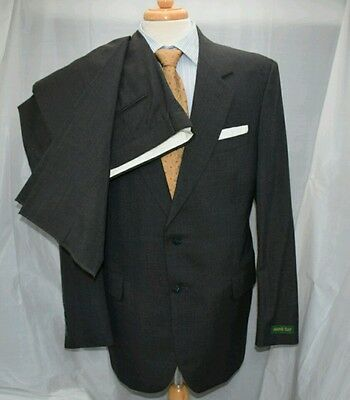 New Maine Bay SUIT 42L Pants 36W 2btn Micro Check Navy Blue Olive Green NWT Nice