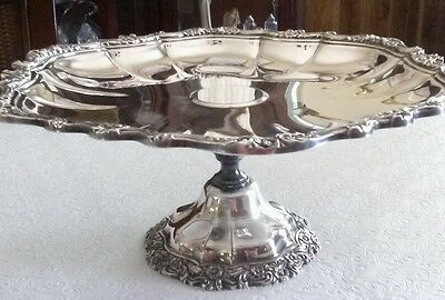 """Vintage 12"""" International Silver Co. Countess Pedestal Footed Cake Plate"""