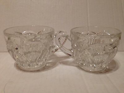 EAPG pattern glass punch cups 2