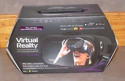 Dream Vision Virtual Reality Smartphone Headset! BRAND NEW, SEALED! FAST SHIP!