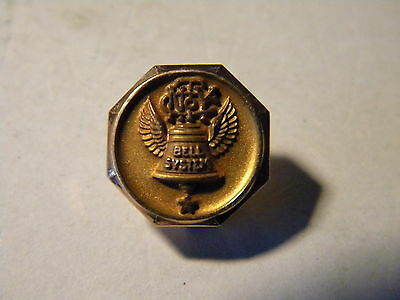 Scarce 10KT Gold Top Bell System 1 Star Service Pin New York