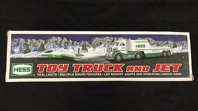 2010 Hess Toy Truck and Jet Lights Sound LED Runway Battery Operated