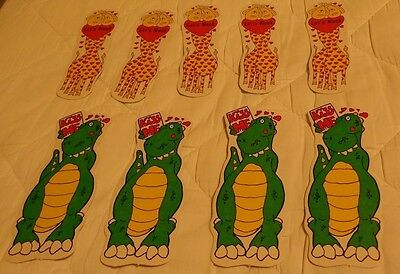 9 Cards Valentine BOOKMARKS KIDS Children Dinosaur Giraffe