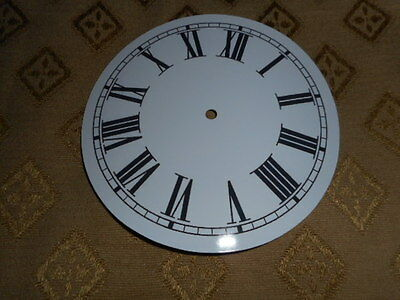 "Round Paper Clock Dial- 7 1/2"" M/T - Roman - High Gloss White -Face/Clock Parts"