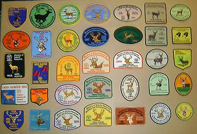 ONTARIO MNR DEER HUNTING PATCH,37 patches [1980-2016] collect,display,mancave