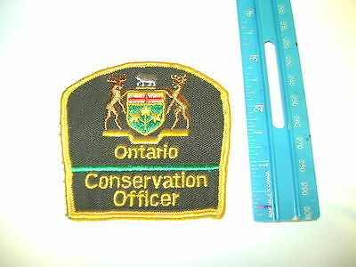 """ONTARIO 3 """" MNR CONSERVATION OFFICER PATCH enforcement,police,parks,hunting,dnr"""