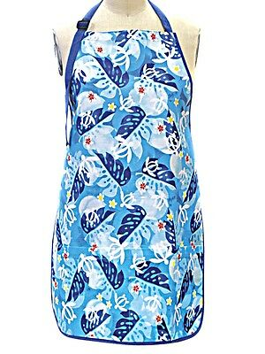 Hawaiian Floral Honu Turtle  Full Apron & Matching Kitchen Towel Gift Set New