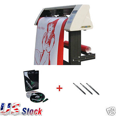 "US 48"" Redsail Sign Vinyl Cutter Plotter with Contour Cut Function+Stand+Softwar"