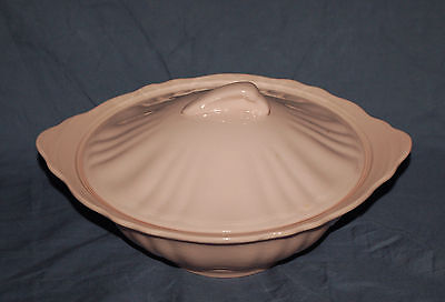 "Lovely Pink J. G. Meakin Rosa Covered Serving Bowl   8-3/4"" Round"