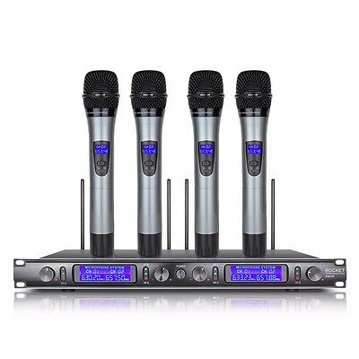 PROFESSIONAL UHF WIRELESS MICROPHONE SYSTEM 4 Channel 4 Handheld MIC  EW240