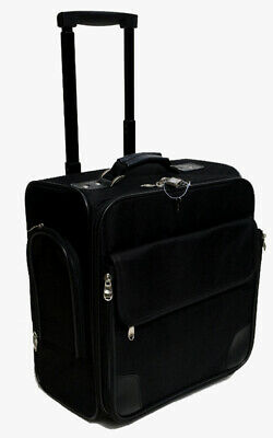 """Business Case and luggage Black 14"""" rolling laptop briefcase under seat bag (17)"""